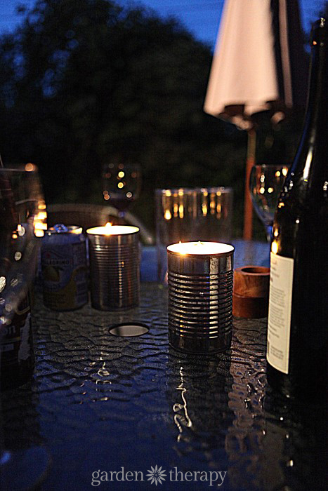 Citronella Candles to keep bugs away from the party