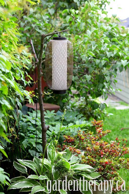 DIY Branch Outdoor Lamp Project
