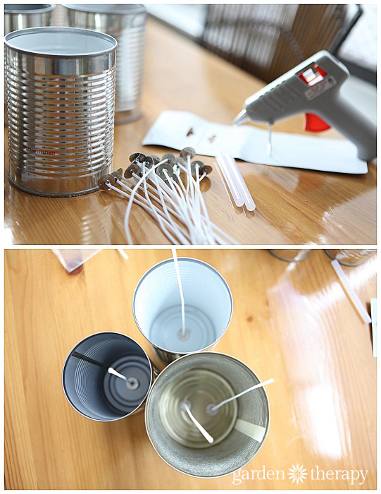 DIY Candles in Cans Turorial Step 2 via Garden Therapy