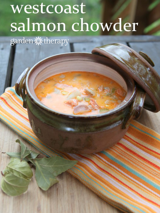 This delicious salmon chowder recipe comes straight from the Westcoast!