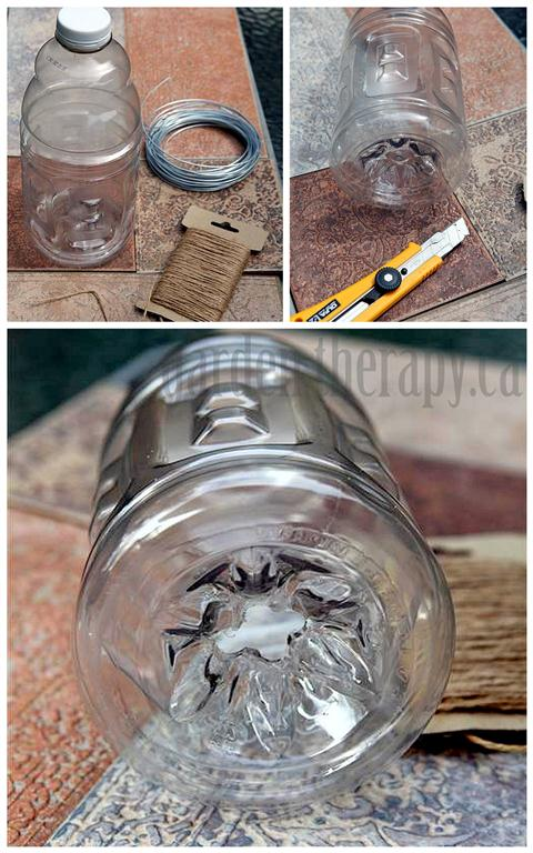 DIY Wasp Trap from recycled materials