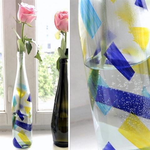 DIY bottle vase painting project