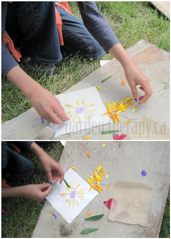 Flower PoundingPrinting Fabric with Natural ElementsGarden