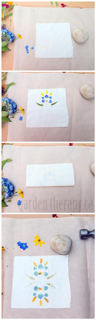 How to Print with Flowers on Fabric