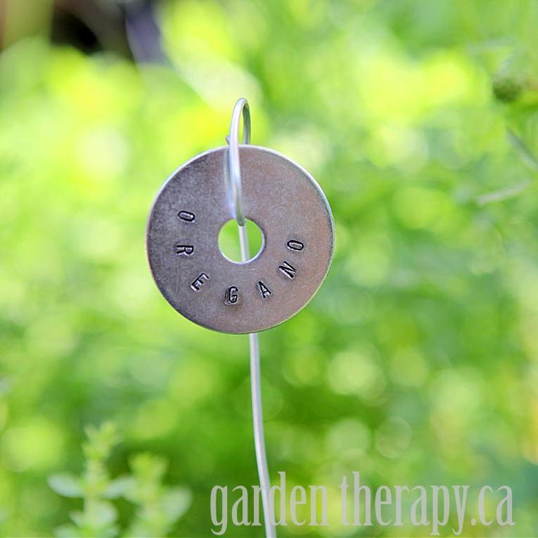 Metal Stamped Plant Tags DIY Oregano