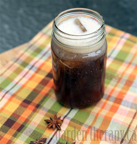 Natural Root Beer in a mason jar glass