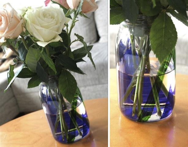 taped jar vase project tutorial