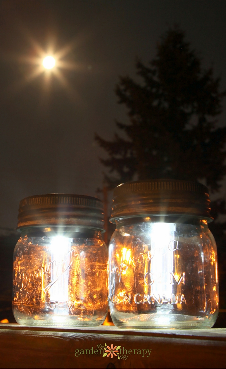 Make Mason Jar Solar Lanterns from vintage mason jars and solar lights - this has full step-by-step instructions