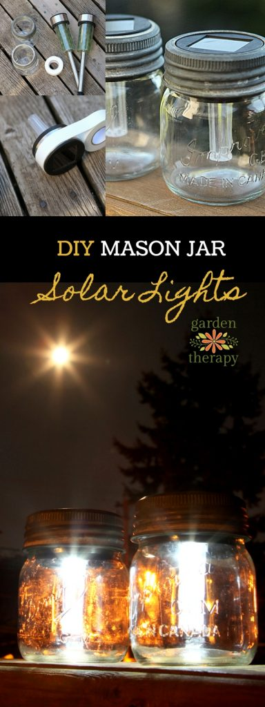 DIY Mason Jar Solar Lights