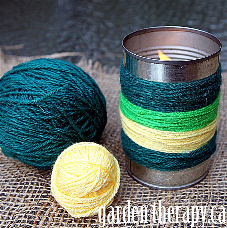 Yarn Bombing Candles - Garden Therapy
