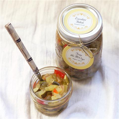 Zucchini Relish canning labels