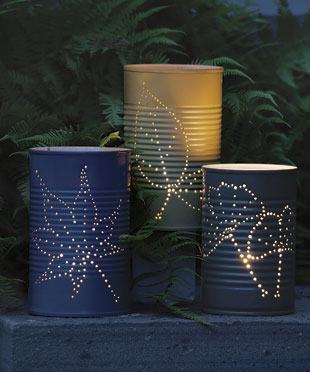 recycled can lanterns