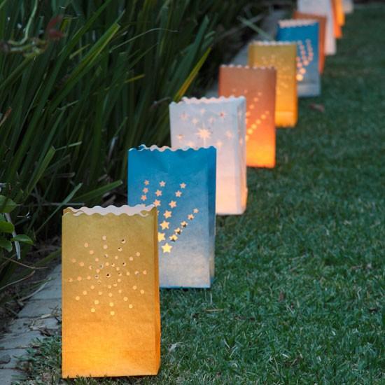 paper bag lanterns