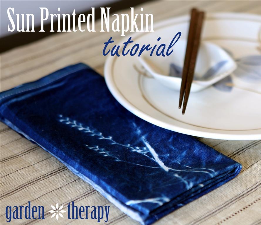 Sun Print Napkin Tutorial