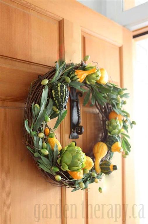 Autumn Harvest Gourd Wreath