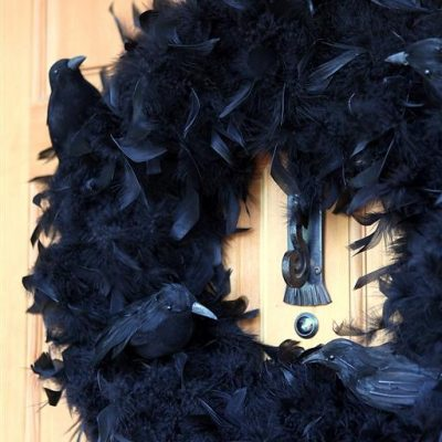 Halloween Crow Feather Wreath 2.0: Now With More Crows!