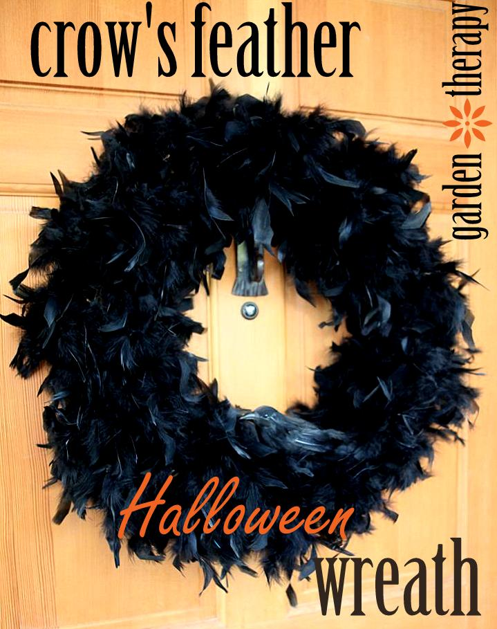 Crow Feather Halloween Wreath
