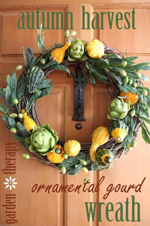 How to make an Ornamental Gourd Wreath