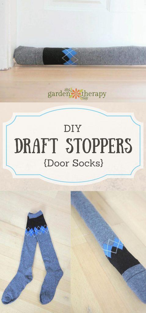 How to make door sock draft stoppers