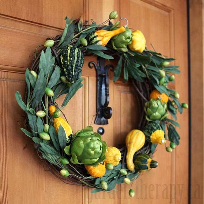 Ornamental Gourd Wreath
