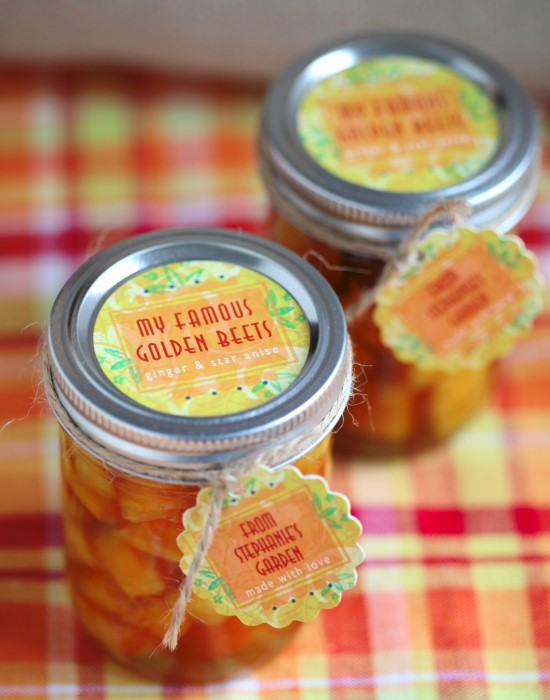 Spiced Pickled Golden Beets Recipe - heavenly