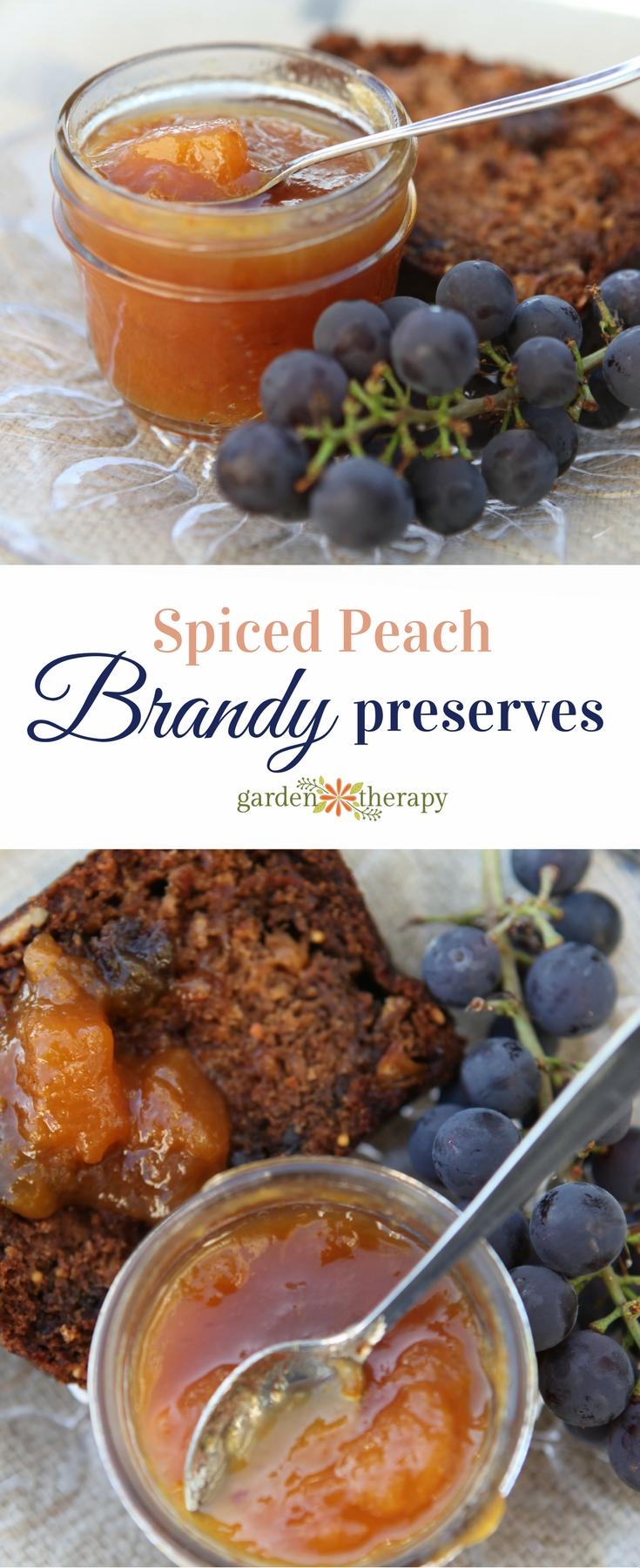 Spiced peach brandy preserves recipe