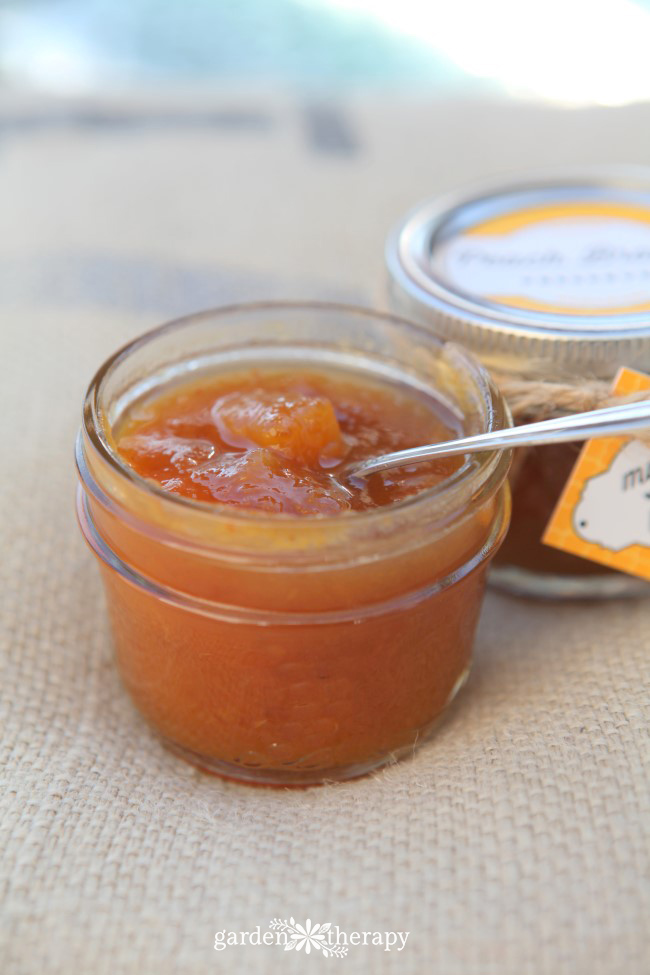You'll fall in love with this spiced peach brandy jam
