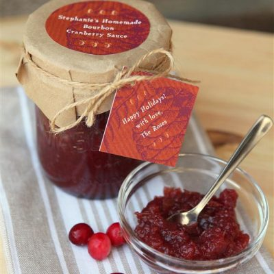 The Perfect Thanksgiving Gift: Bourbon Cranberry Sauce