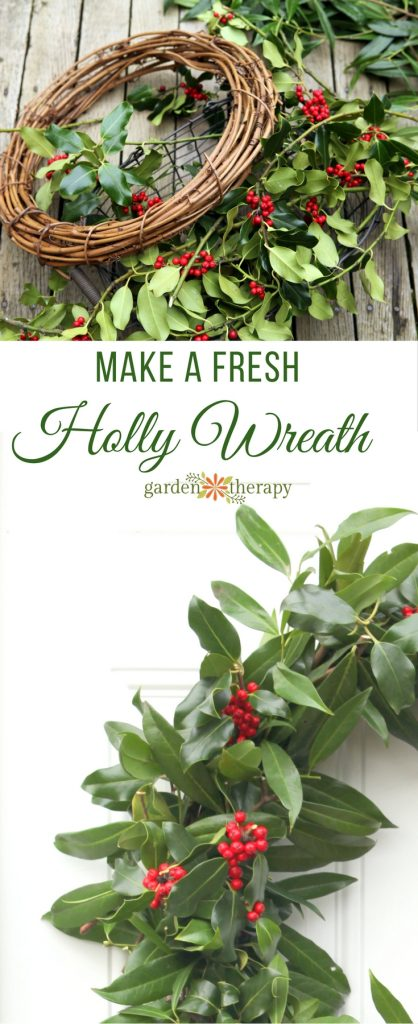 This easy-to-make fresh holly wreath dotted with bright red berries is a traditional way to decorate for Christmas. See how to make one at home in this DIY.