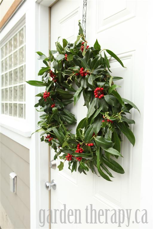 Holly and Laurel Holiday Wreath