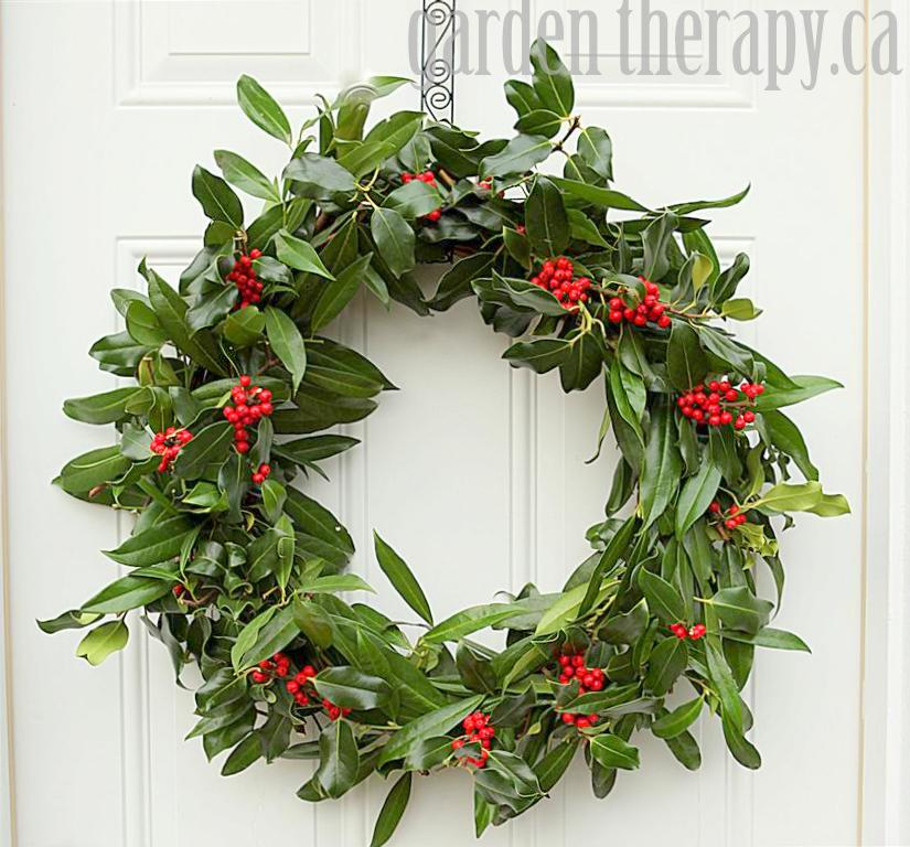 A very merry holly wreath garden therapy Christmas wreaths to make