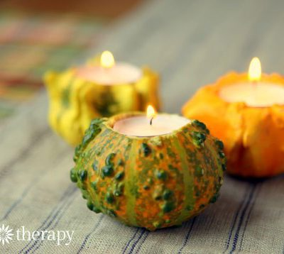 Impress Your Friends and Family with these Simple yet Elegant Gourd Candle Holders