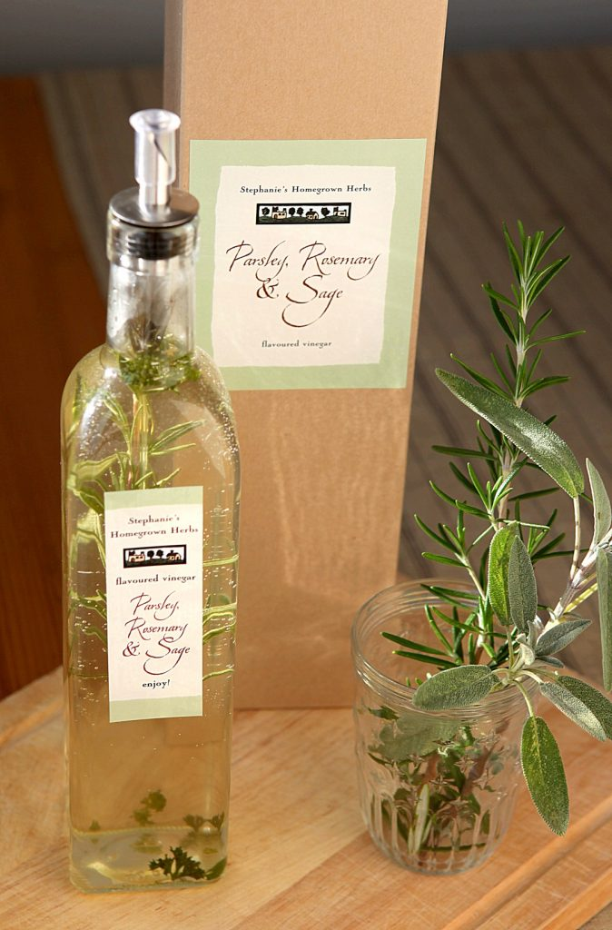 Parsley Rosemary and Sage Infused Vinegar