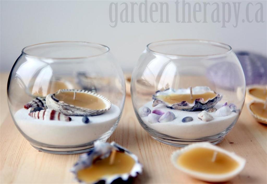 Seashell Tealight Candles