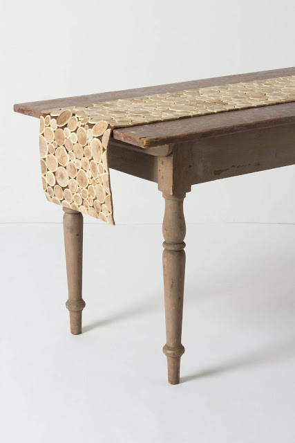 Anthropologie Qingke Wood Table Runner