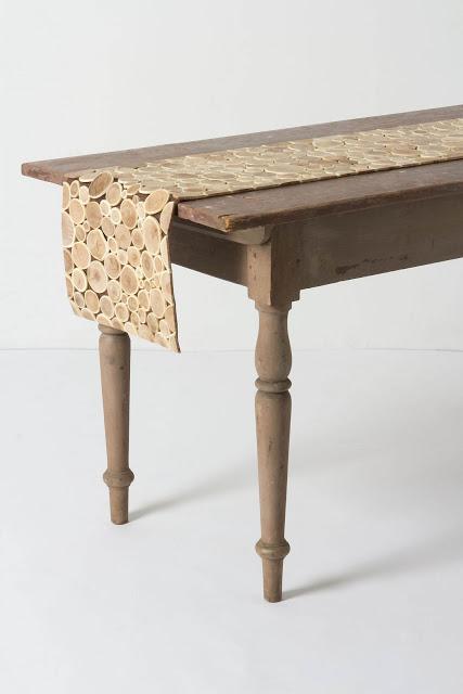 Anthropologie Qingke Wood Table Runner