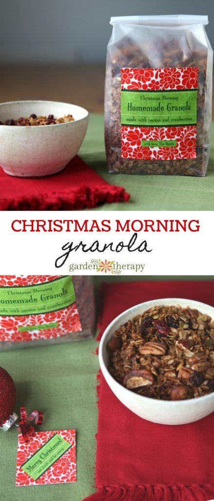 Christmas morning granola