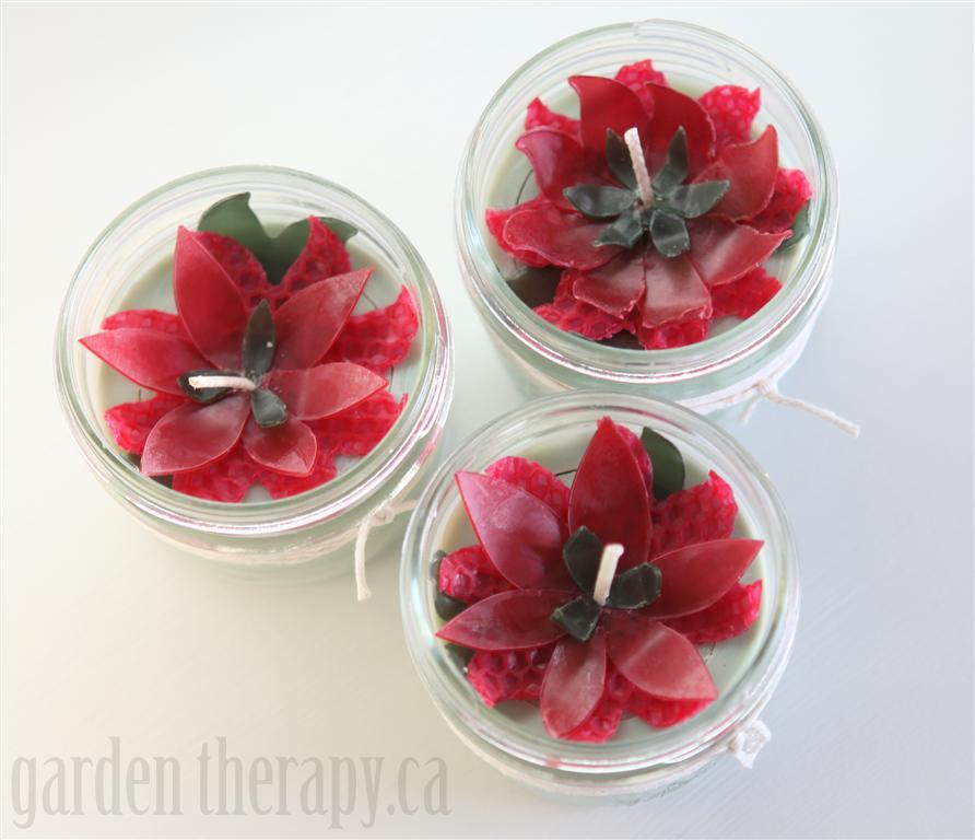 Holiday Soy Mason Jar Candles