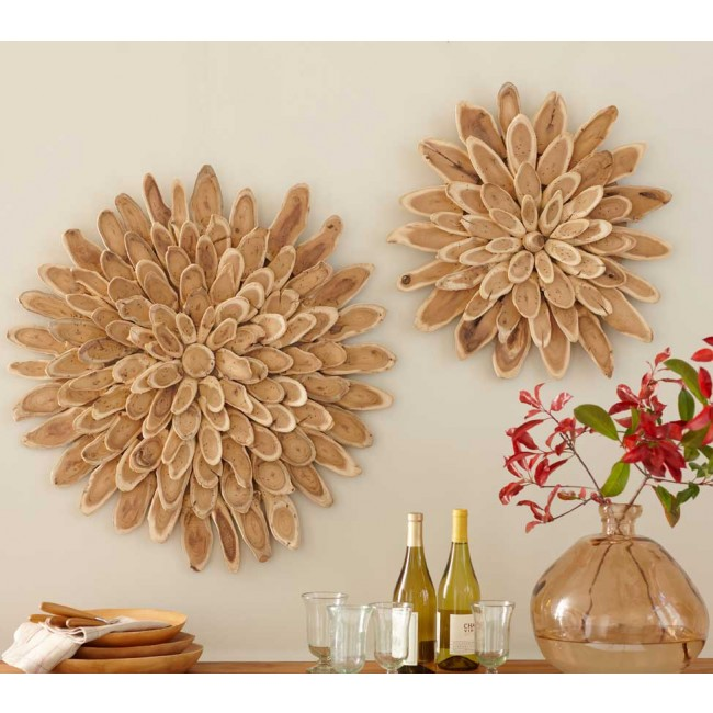 Vivaterra Wood Slice Starburst Wall Art