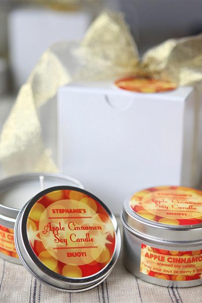 Apple Cinnamon Soy Candles