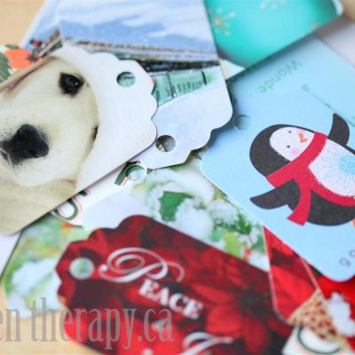 Recycling Cards into Gift Tags