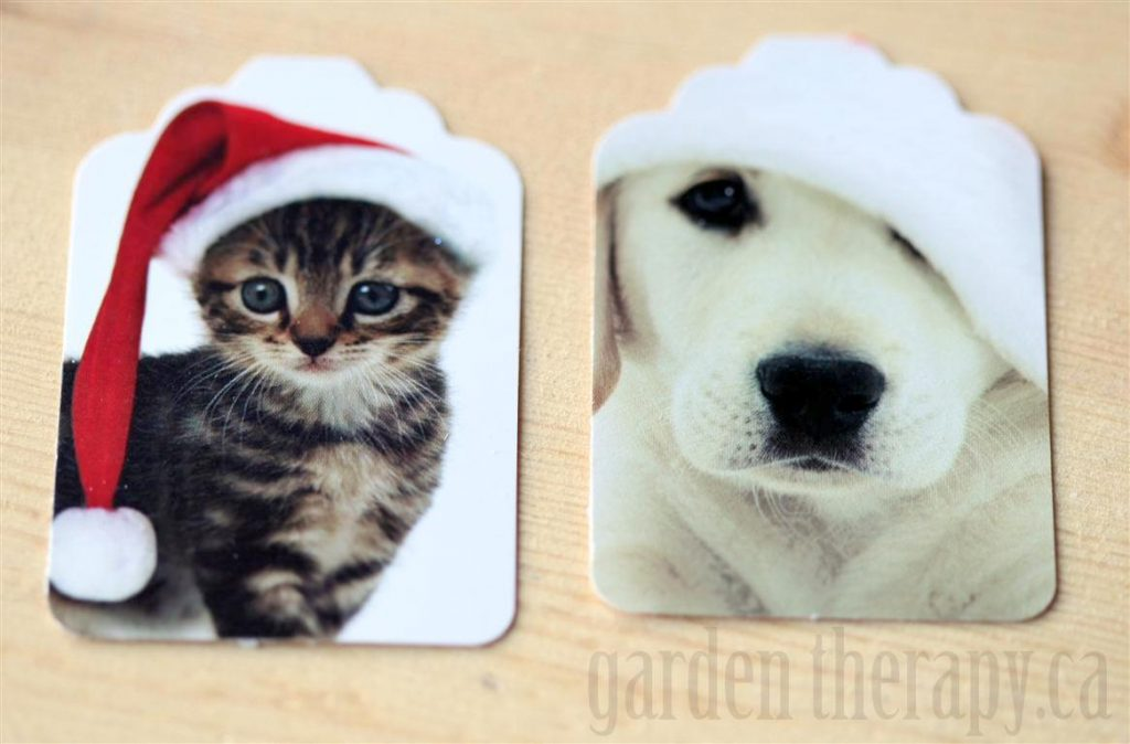 Recycling Holiday Cards into Gift Tags