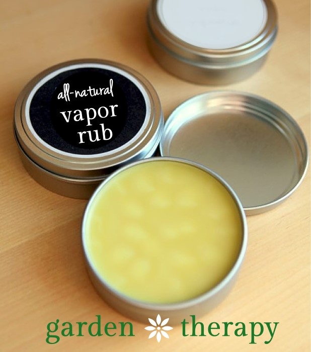 This All Natural Vapor Rub Recipe is a must for cold and flu season!