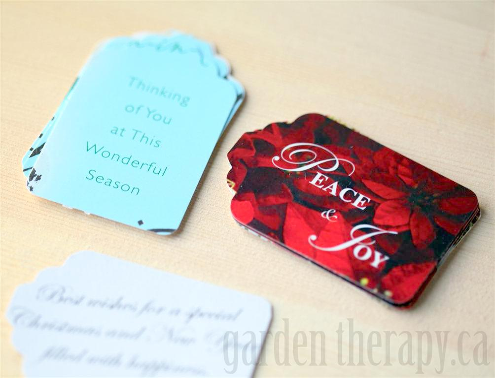 Turning Cards into Gift Tags