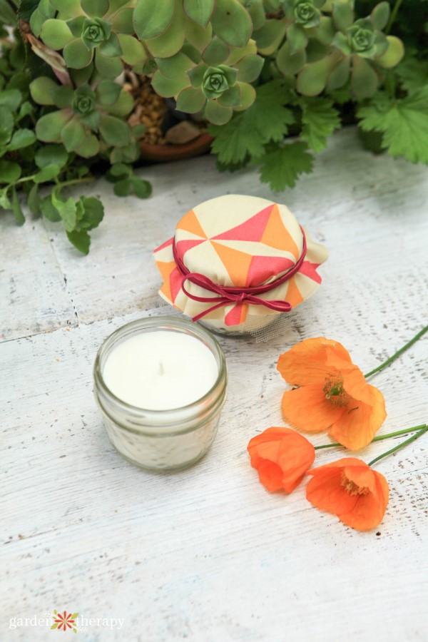 handmade candle wedding favors