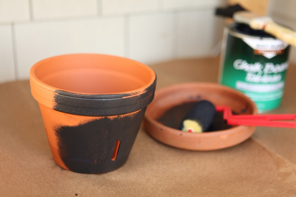 DIY Chalk Board Pots
