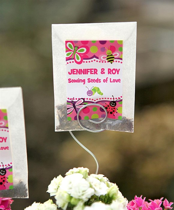 Easy Seed Envelope Wedding Favors