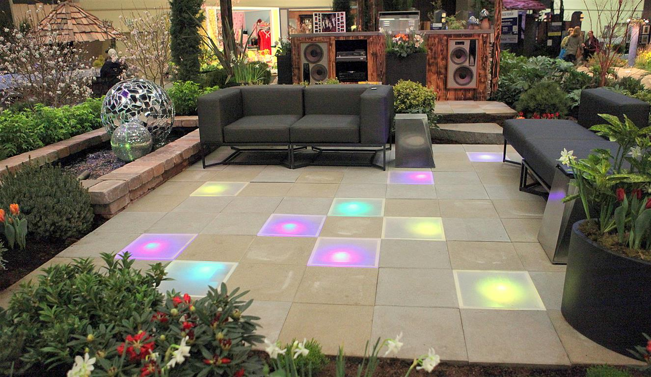 Lighted Patio Stones