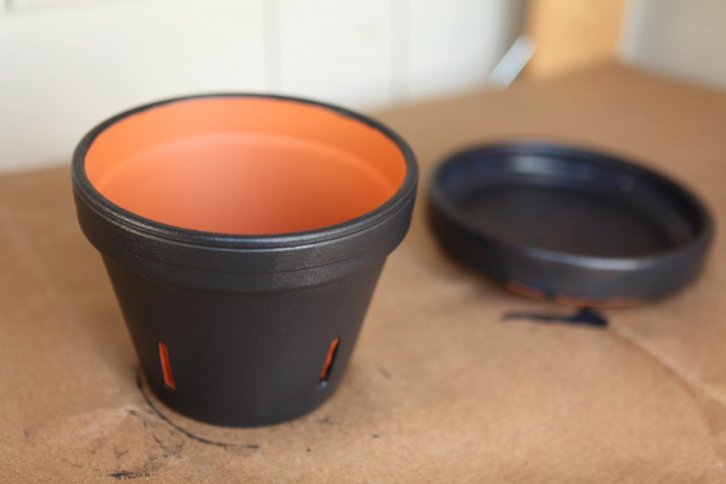 Painted Flower Pots Chalkboard