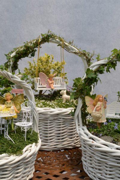 Easter Basket Fairy Garden